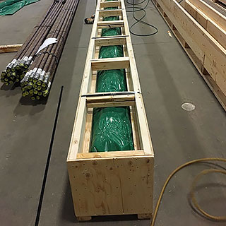 Solid wall crates - excellent for flexible material of longer lengths
